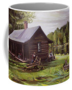 Log Cabin By The Lake Coffee Mug