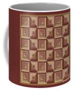 Log Cabin Reds Quilt Coffee Mug
