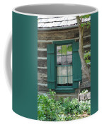 Log Cabin Window Coffee Mug