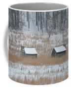 Log Cabins In Valley Forge Coffee Mug