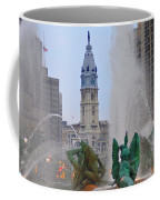 Logan Circle Fountain With City Hall In Backround 2 Coffee Mug