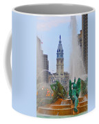 Logan Circle Fountain With City Hall In Backround 3 Coffee Mug