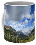 Logan Pass Panorama - Glacier National Park Coffee Mug