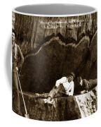 Logger With Ax On Springboard Loggers Sitting Inside Undercut  Circa 1890 Coffee Mug