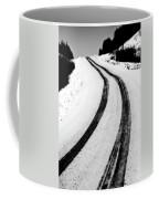 Logging Road In Winter Coffee Mug