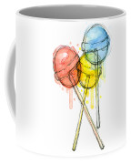 Lollipop Candy Watercolor Coffee Mug