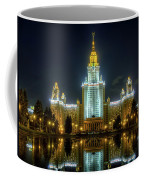 Lomonosov Moscow State University At Night Coffee Mug by Alexey Kljatov