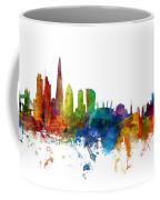 London And Warsaw Skylines Mashup Coffee Mug