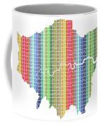 London Boroughs Map - Rainbow Coffee Mug