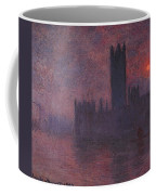 London Houses Of Parliament At Sunset  Coffee Mug