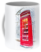 London Red Telephone Booth  Coffee Mug
