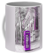 London Telephone Purple Coffee Mug