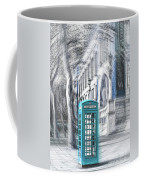 London Telephone Turquoise Coffee Mug