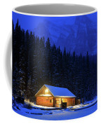 Lone Cabin In The Rockies Coffee Mug