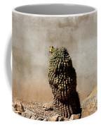 Lone Cactus In Sepia Tone Coffee Mug