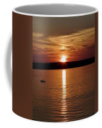 Lone Fisherman At Sunset Coffee Mug