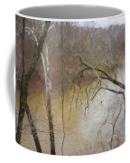 Lone Paddler On The Potomac Coffee Mug