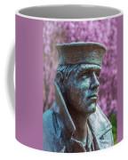 Lone Sailor In Color Coffee Mug