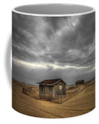 Lonely Beach Shacks Coffee Mug by Evelina Kremsdorf