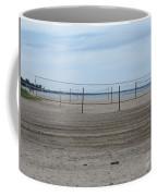 Lonely Beach Volleyball Coffee Mug