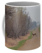 Lonely Deer Crossing Coffee Mug