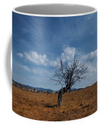 Lonely Dry Tree In A Field Coffee Mug