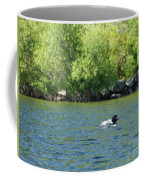 Lonely Loon Taking The Red Eye Coffee Mug