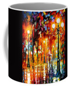 Lonely Night 3 - Palette Knife Oil Painting On Canvas By Leonid Afremov Coffee Mug