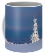 Lonely Tree On A Mountain Top Coffee Mug