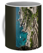 Long And Twisted Walk To The Shore - Azure Magic Of Capri Coffee Mug