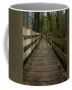 Long Boardwalk Through The Wetlands Coffee Mug