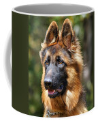 Long Coated German Shepherd Dog Coffee Mug