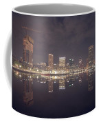 Long Exposure Of The Colorful Baltimore Skyline Coffee Mug