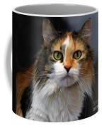 Long Haired Calico Cat Coffee Mug