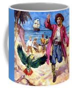 Long John Silver And His Parrot Coffee Mug