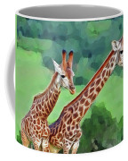 Long Necked Giraffes 2 Coffee Mug
