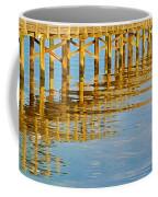 Long Wooden Pier Reflections Coffee Mug