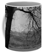 Longs Peak And Mt. Meeker The Twin Peaks Black And White Photo I Coffee Mug by James BO  Insogna
