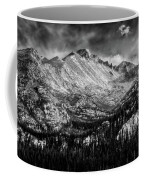 Longs Peak Rocky Mountain National Park Black And White Coffee Mug