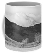Longs Peak Snow Storm Bw Coffee Mug