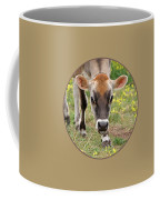 Look Into My Eyes - Jersey Cow - Square Coffee Mug