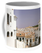 Looking Down Over Antequera  From Near The Church Of Santa Maria La Mayor  Coffee Mug