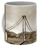Looking North At The Golden Gate Bridge Under Construction With No Deck Yet 1936 Coffee Mug