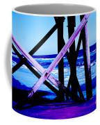 Looking On - Blue Coffee Mug