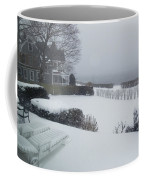 Looking Out From A Porch To The River Coffee Mug