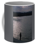 Looking Out Over A Flooded Potomac Coffee Mug by Stacy Gold