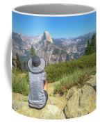 Looking Panorama At Glacier Point Coffee Mug