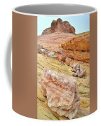 Looking Skyward From Wash 3 In Valley Of Fire Coffee Mug