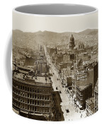 Looking Up Market Street From The Call Building With City Hall Circa 1900 Coffee Mug