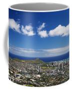Lookout View Of Honolulu Coffee Mug